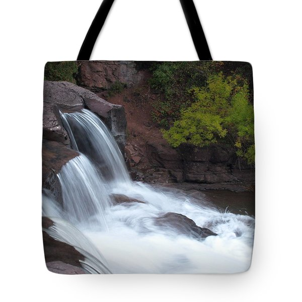 Tote Bag featuring the photograph Gooseberry Falls In Slow Motion by James Peterson