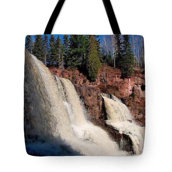 Tote Bag featuring the photograph Gooseberry Falls by James Peterson