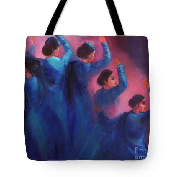 Gopis Dancing In The Dusk Tote Bag