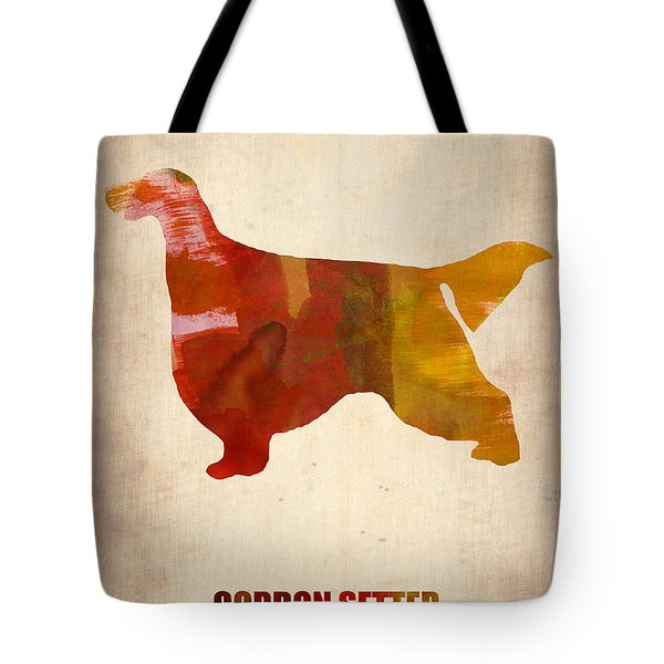 Gordon Setter Poster 1 Tote Bag by Naxart Studio
