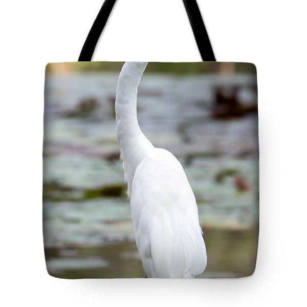 Gorgeous N Tall Great White Egret Tote Bag by Sabrina L Ryan