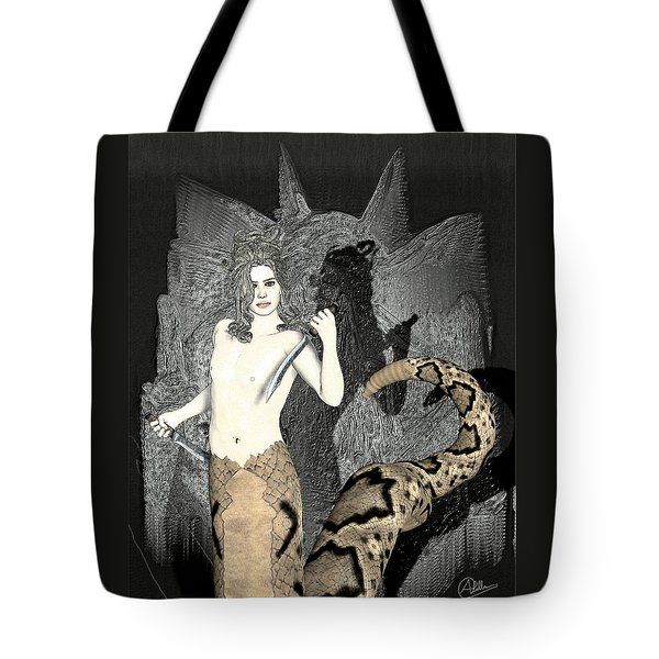 Male Medusa  Tote Bag