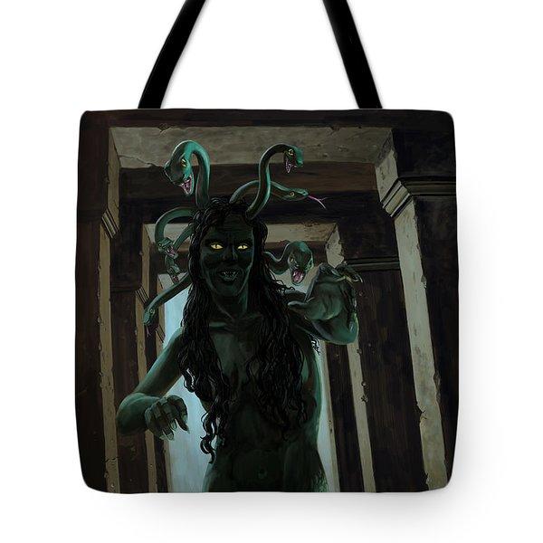 Gorgon Medusa Tote Bag by Martin Davey