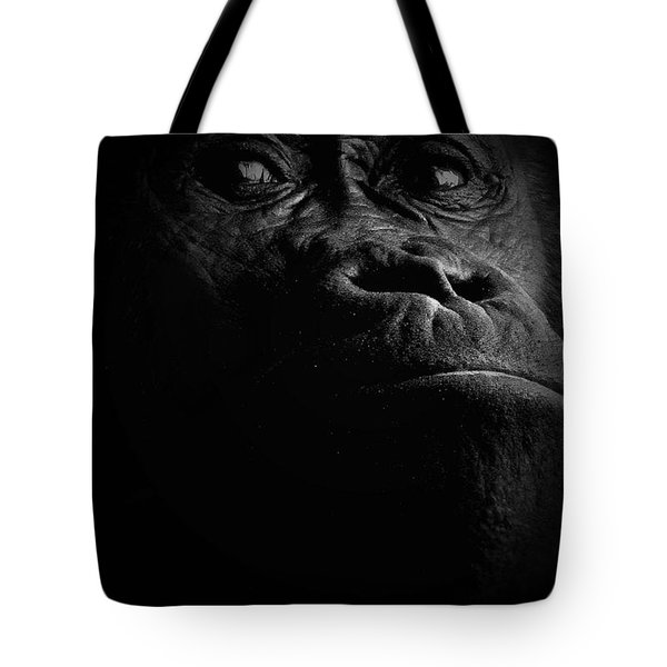 Gorilla Tote Bag by Christine Sponchia