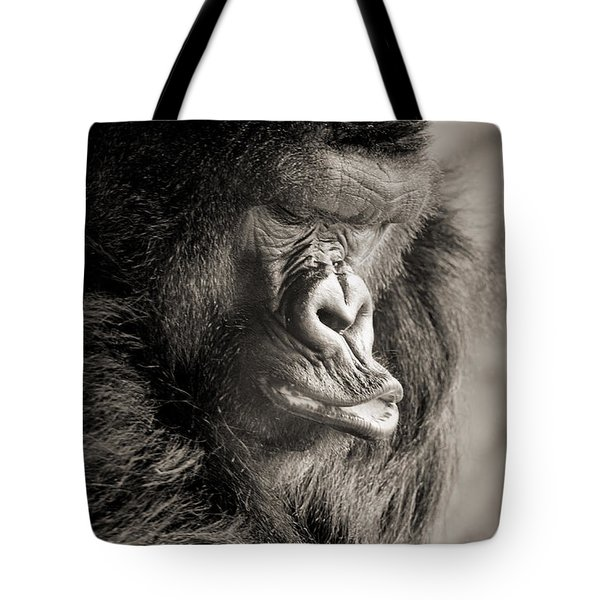 Gorilla Poses IIi Tote Bag