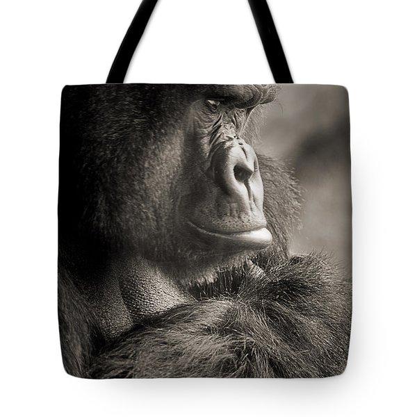 Gorilla Poses Iv Tote Bag