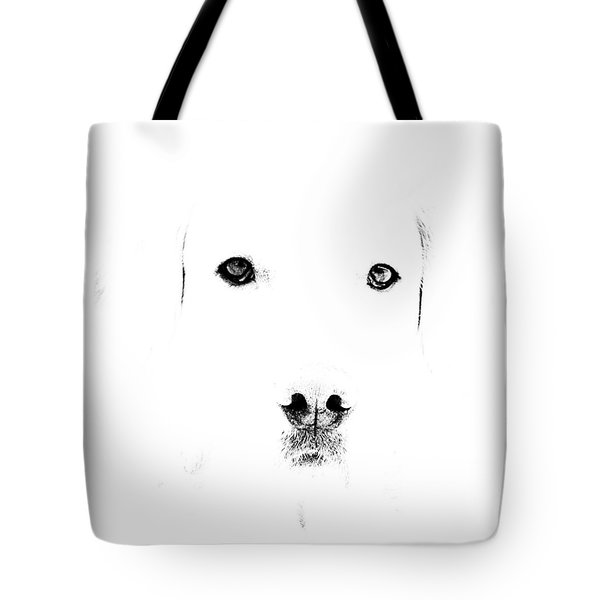 Dog Face Tote Bag by Mike Santis
