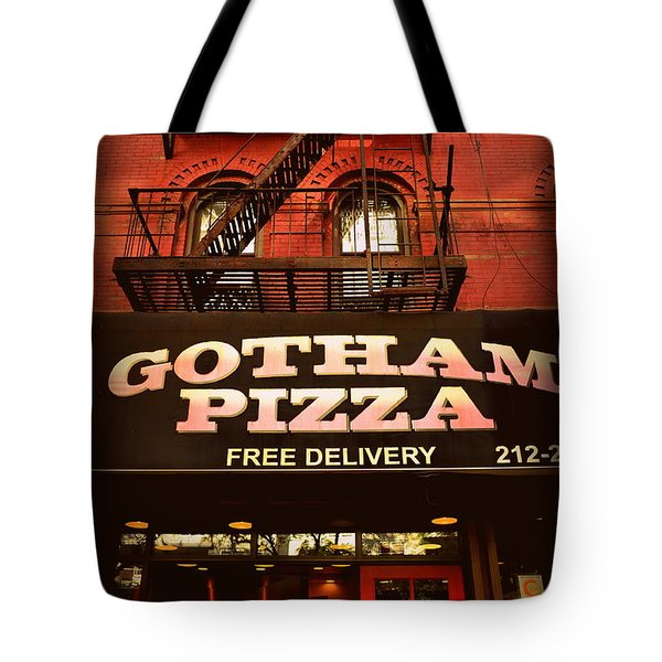 Gotham Pizza Tote Bag by Miriam Danar