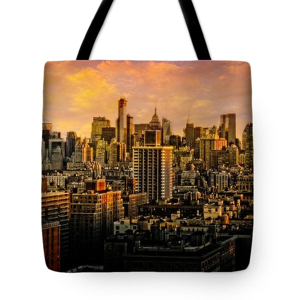 Tote Bag featuring the photograph Gotham Sunset by Chris Lord