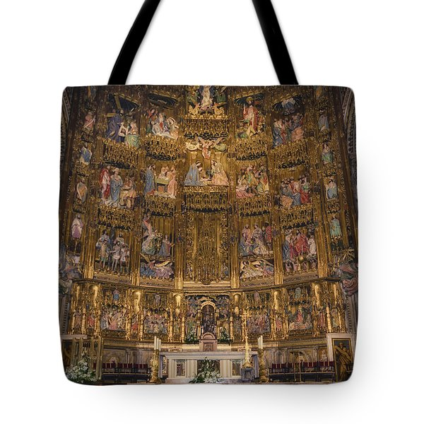 Gothic Altar Screen Tote Bag by Joan Carroll