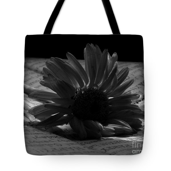 Gothic Birthday Flower Bw Tote Bag by Chalet Roome-Rigdon