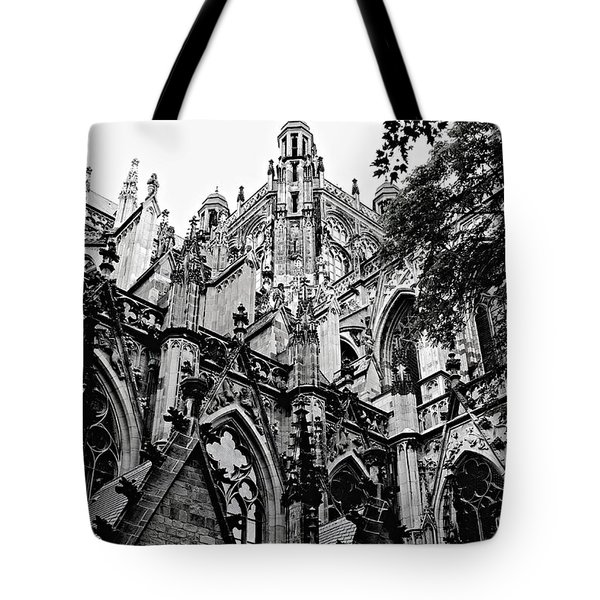 Gothic Cathedral Of Den Bosch Tote Bag by Carol Groenen