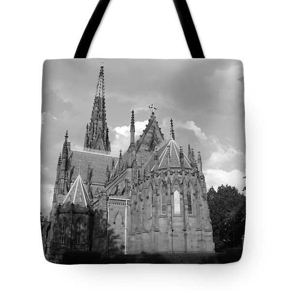 Tote Bag featuring the photograph Gothic Church In Black And White by John Telfer