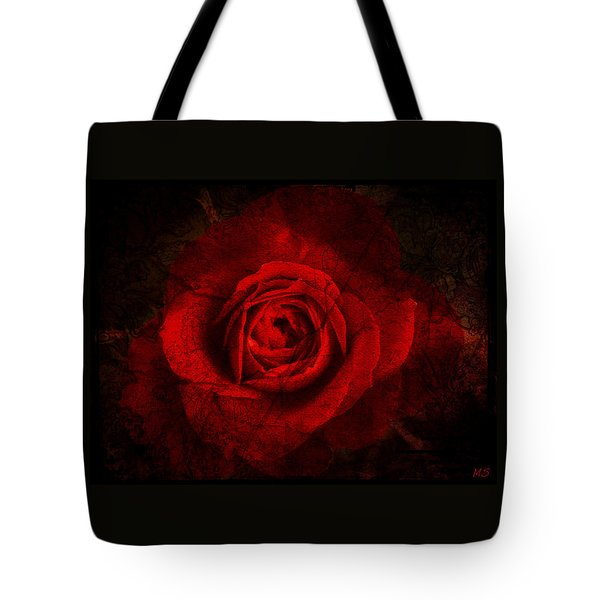 Tote Bag featuring the digital art Gothic Red Rose by Absinthe Art By Michelle LeAnn Scott