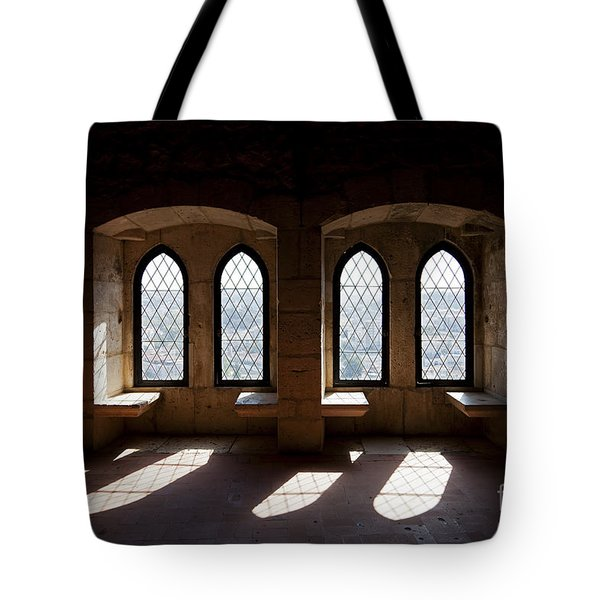 Gothic Windows Of The Royal Residence In The Leiria Castle Tote Bag by Jose Elias - Sofia Pereira
