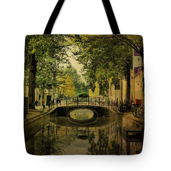 Tote Bag featuring the photograph Gouda In Vintage Look by Annie Snel