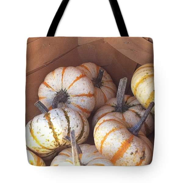 Tote Bag featuring the photograph Gourd Harvest by Denyse Duhaime