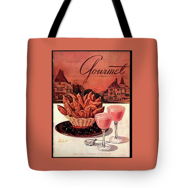 Gourmet Cover Featuring A Basket Of Potato Curls Tote Bag