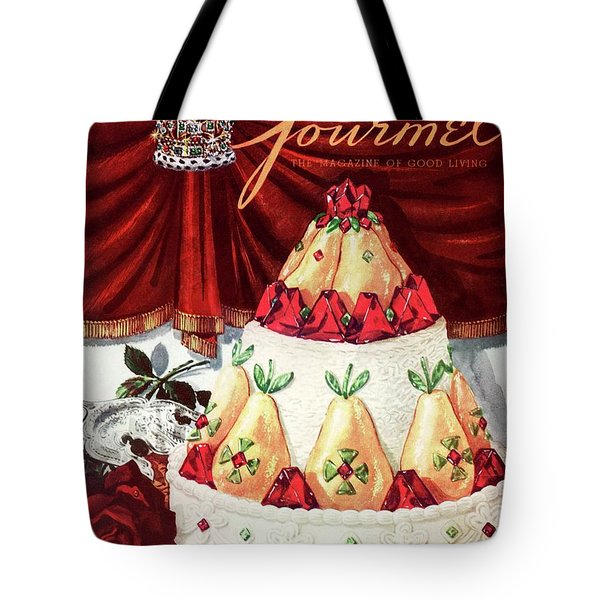 Gourmet Cover Featuring A Cake Tote Bag