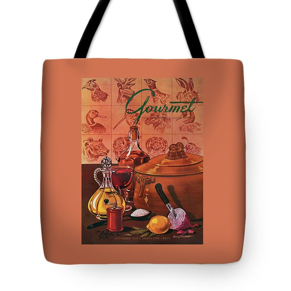 Gourmet Cover Featuring A Casserole Pot Tote Bag