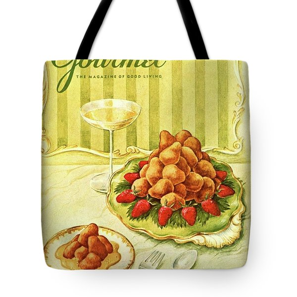Gourmet Cover Featuring A Plate Of Beignets Tote Bag