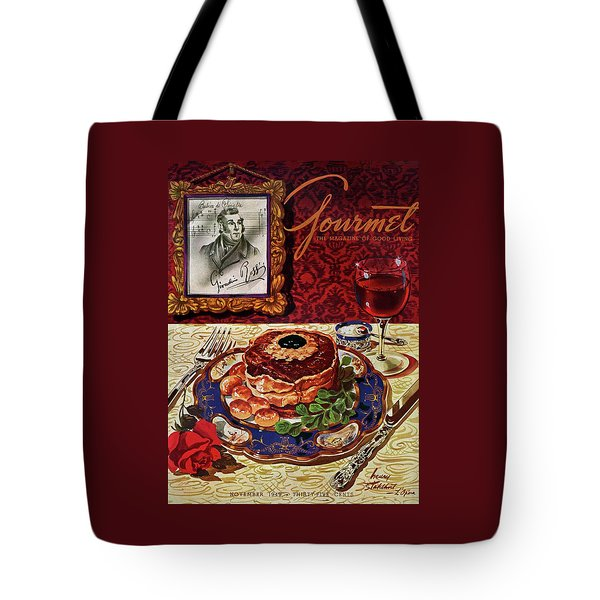Gourmet Cover Featuring A Plate Of Tournedos Tote Bag