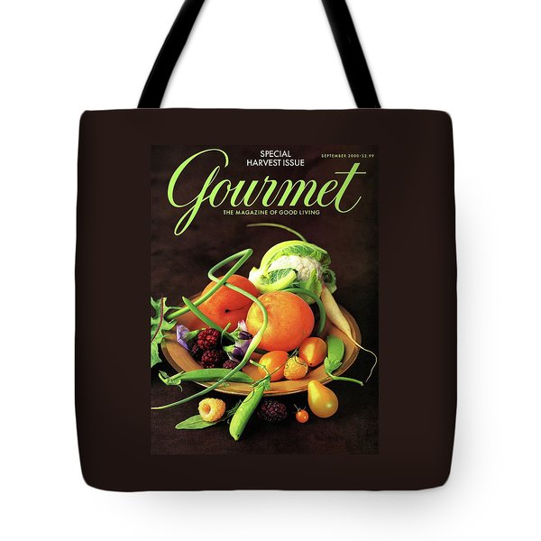 Gourmet Cover Featuring A Variety Of Fruit Tote Bag