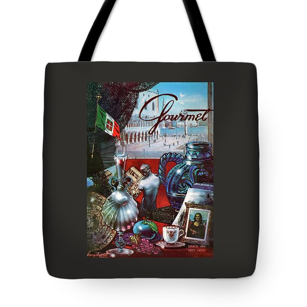 Gourmet Cover Featuring A Variety Of Italian Tote Bag