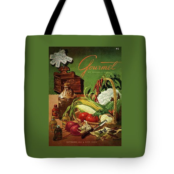 Gourmet Cover Featuring A Variety Of Vegetables Tote Bag by Henry Stahlhut