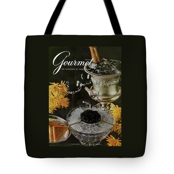 Gourmet Cover Featuring A Wine Cooler Tote Bag