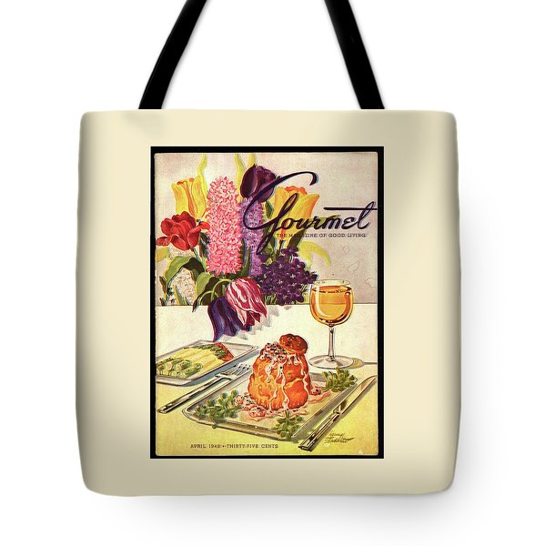 Gourmet Cover Featuring Sweetbread And Asparagus Tote Bag