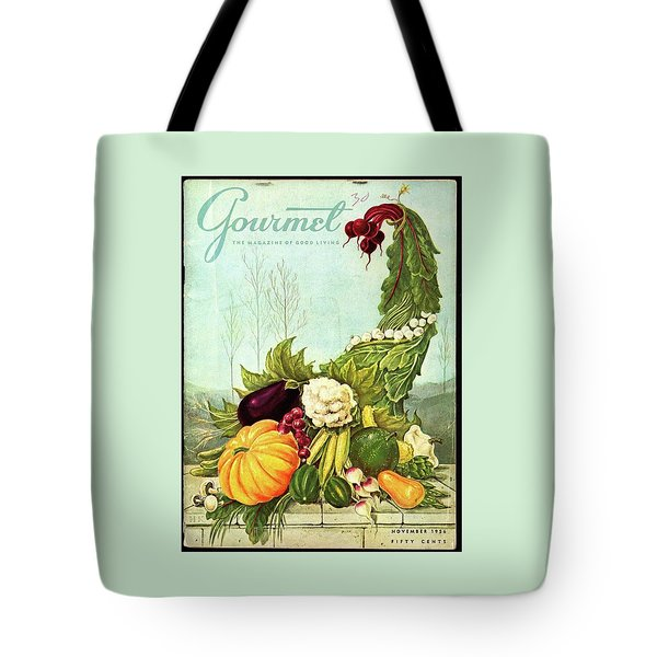 Gourmet Cover Illustration Of A Cornucopia Tote Bag