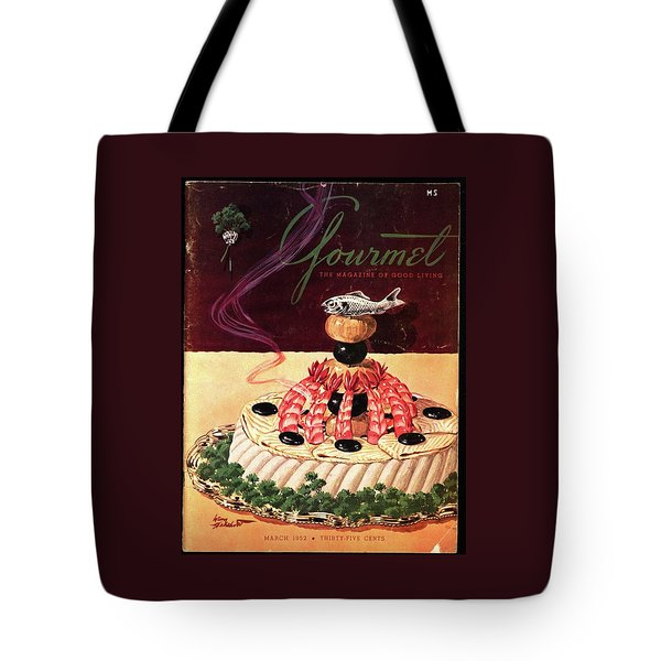 Gourmet Cover Illustration Of A Filet Of Sole Tote Bag
