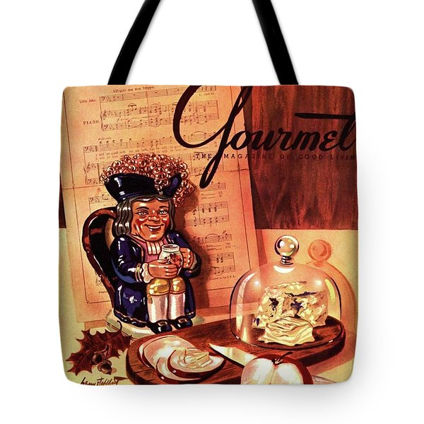Gourmet Cover Illustration Of A Tray Of Cheese Tote Bag