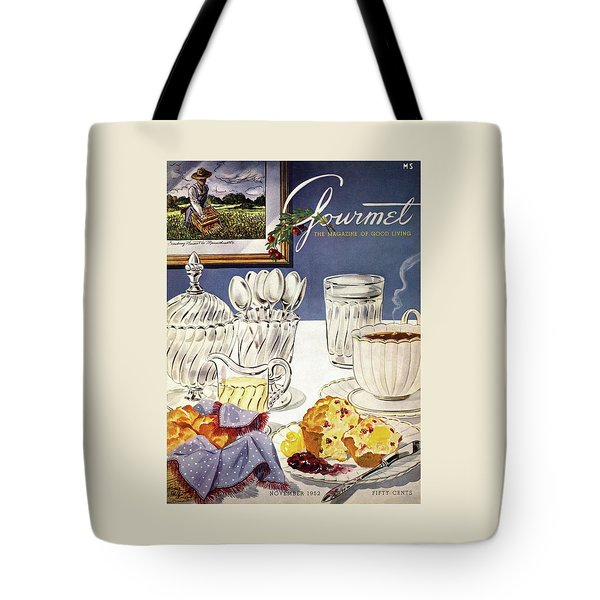 Gourmet Cover Illustration Of Cranberry Muffins Tote Bag