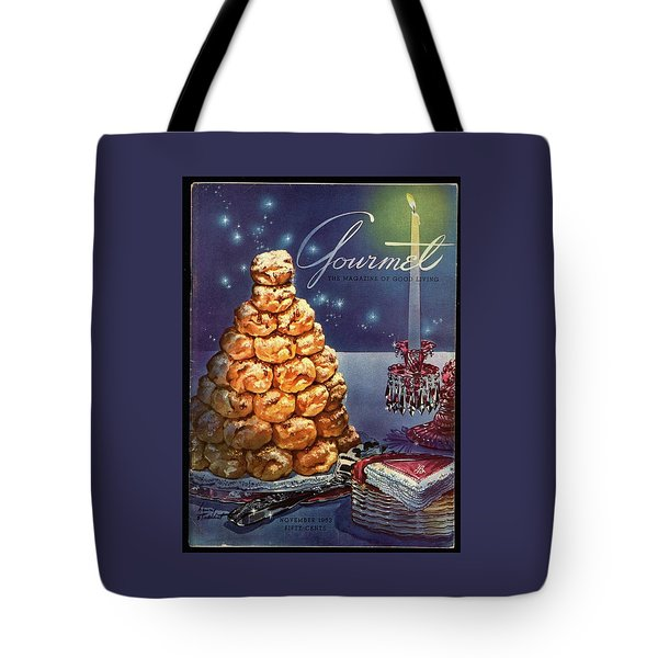 Gourmet Cover Illustration Of Croquembouche Tote Bag