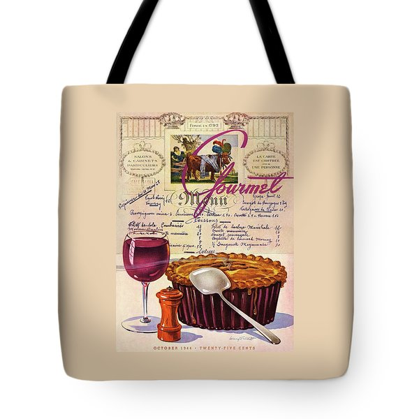 Gourmet Cover Illustration Of Deep Dish Pie Tote Bag