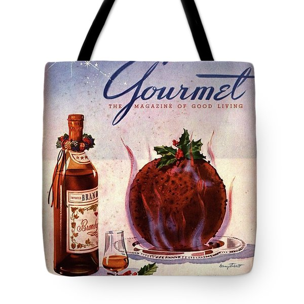 Gourmet Cover Illustration Of Flaming Chocolate Tote Bag