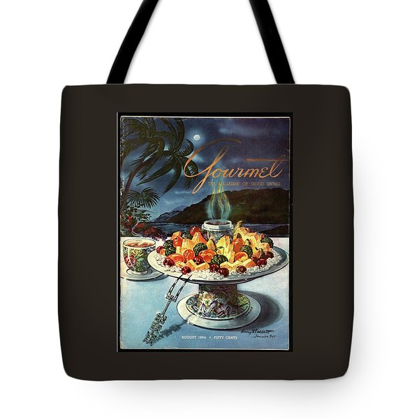 Gourmet Cover Illustration Of Fruit Dish Tote Bag