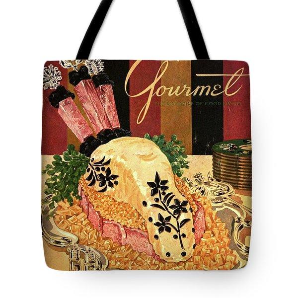 Gourmet Cover Illustration Of Langue De Boeuf Tote Bag