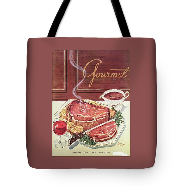Gourmet Cover Of A Roast Beef Tote Bag