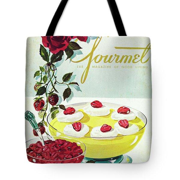 Gourmet Cover Of A Bowl Of Custard Tote Bag