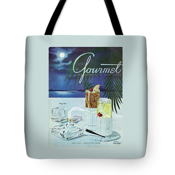 Gourmet Cover Of Cocktails Tote Bag