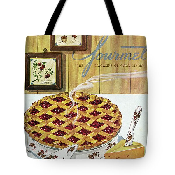 Gourmet Cover Of Cranberry Pie Tote Bag
