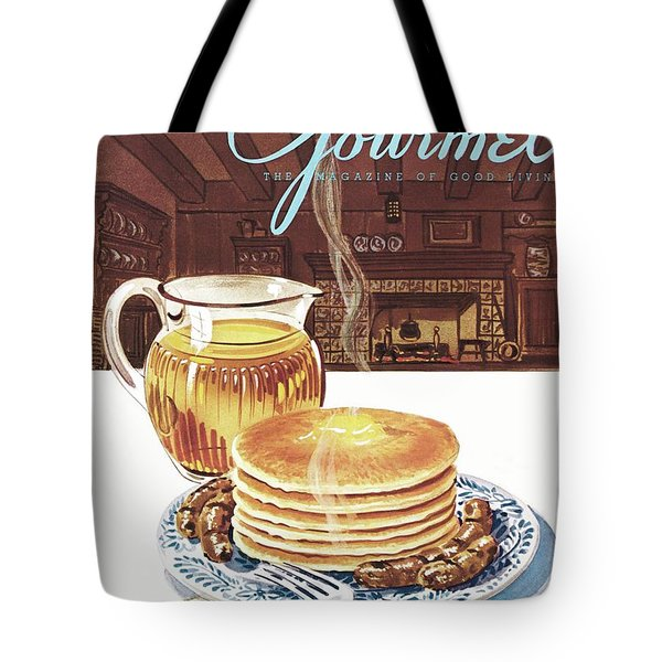 Gourmet Cover Of Pancakes Tote Bag