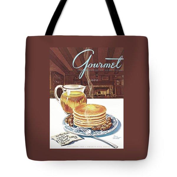 Gourmet Cover Of Pancakes Tote Bag