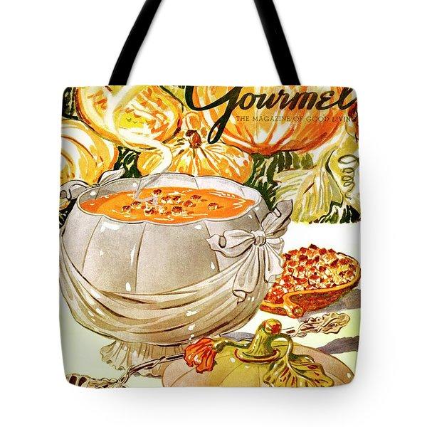 Gourmet Cover Of Pumpkin Soup Tote Bag