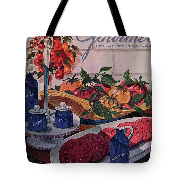 Gourmet Cover Of Tomatoes And Seasoning Tote Bag