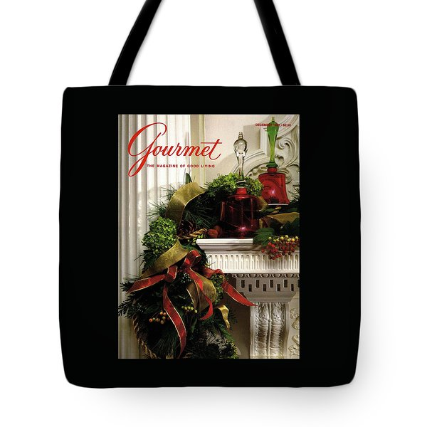 Gourmet Magazine Cover Featuring Christmas Garland Tote Bag