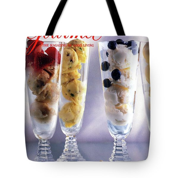Gourmet Magazine Cover Featuring Ice Cream Tote Bag